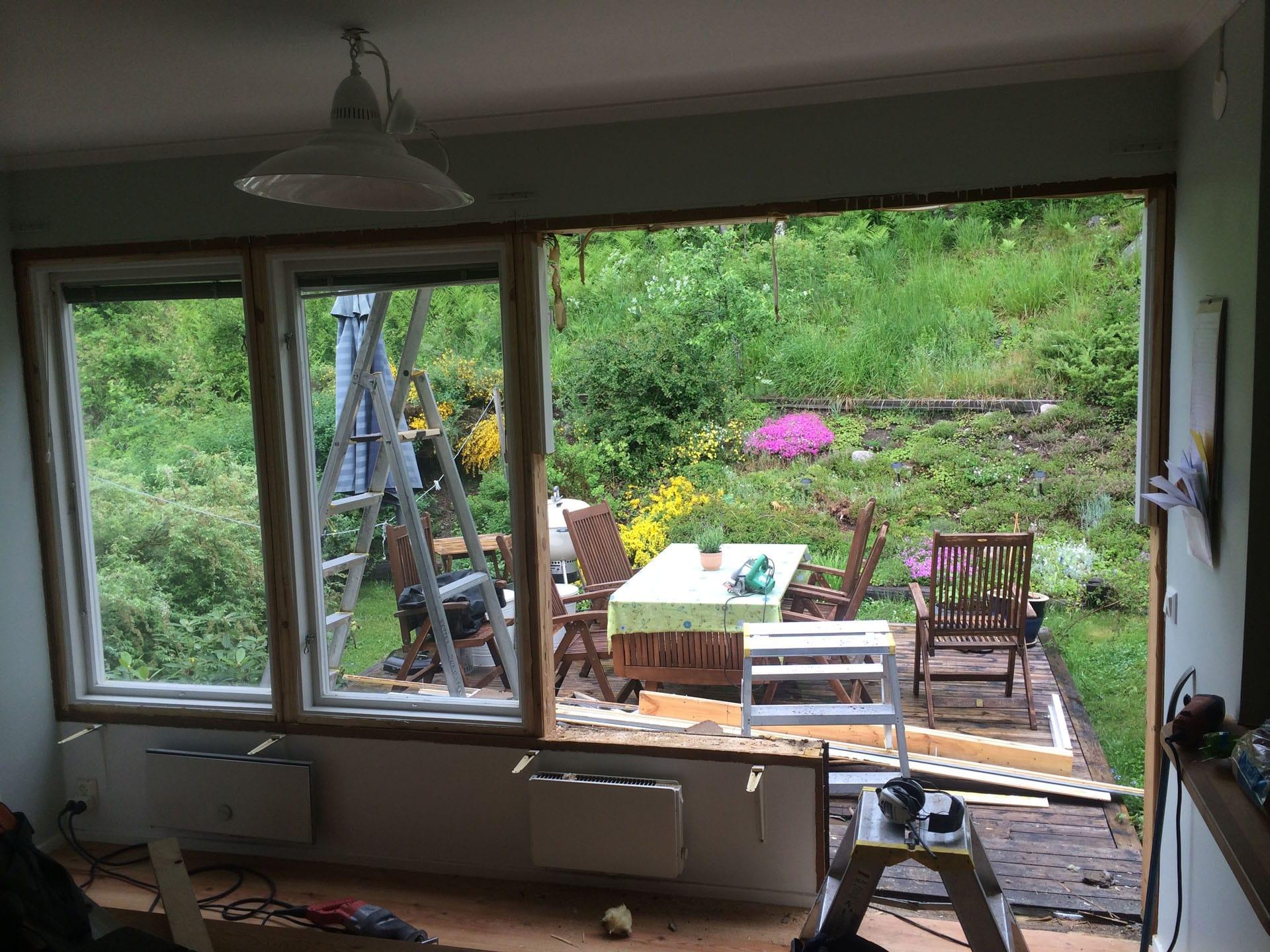Byte av fönster och dörr Skeppsdalsvägen bild1