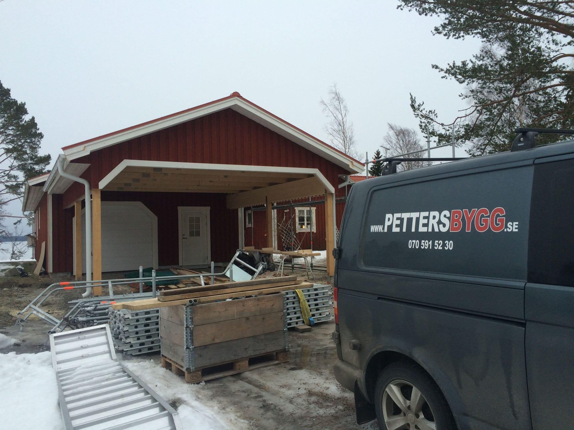 Ny carport Saltvik bild