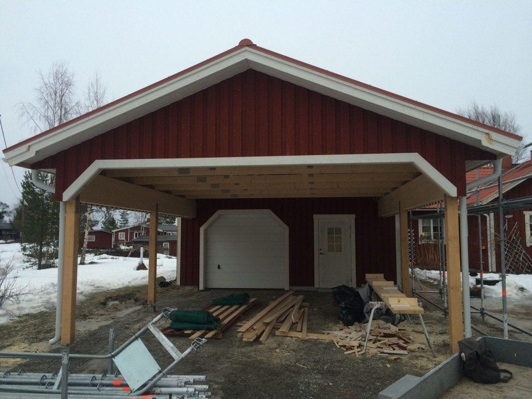 Ny carport i Saltvik